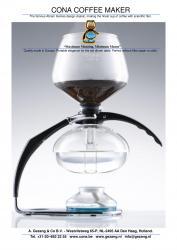 Cona - Tafel model D met glazen zeef - Chroom 8 kops (D-Genius All-Glass)